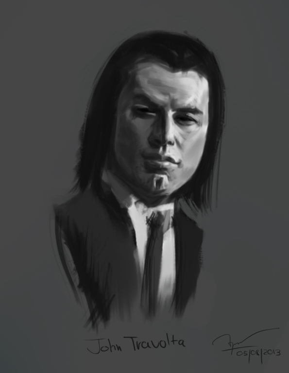 John Travolta's portrait