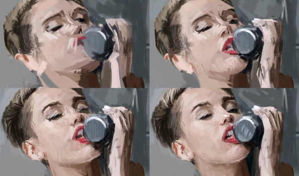 Miley Cyrus painting
