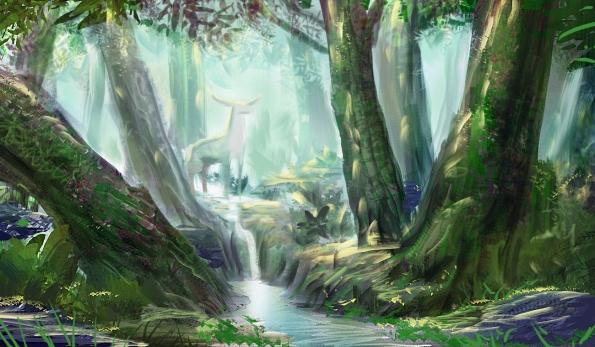 deer-human-forest